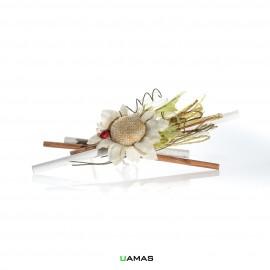 Bouquet con Fiore e Coccinella Tortora