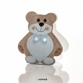 Scatola 35x25x60mm a forma di Orsacchiotto Teddy Bear Azzurro