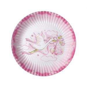 10 Piatti Ø 18 cm Cicogna Rosa