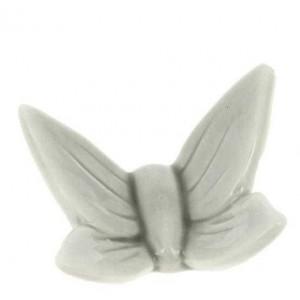 Magnete Farfalla Stilizzata Porcellana Grigia 5x4 cm