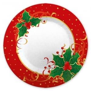 8 Piatti  30 cm Natale Gourmet