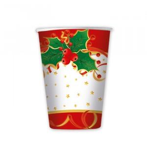 8 Bicchieri 200 cc Natale Gourmet