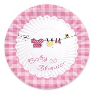 10 Piatti  Ø 24 cm Baby Shower Girl