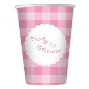10 Bicchieri 200 cc Baby Shower Girl