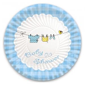 10 Piatti  24 cm Baby Shower Boy