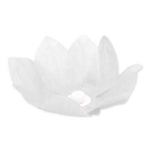 Fiore Galleggiante in carta  28 cm Bianco