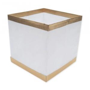 Lanterna Galleggiante Quadrata 15 x 15 x 15 cm Bianca