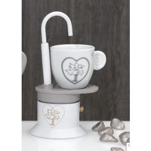 Caffettiera con tazza Albero della vita H. 17 cm