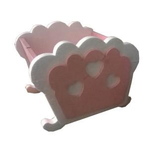 Culletta rosa in polistirolo cm 40x25 h 20