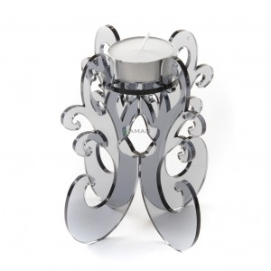 Candeliere in Plexiglass 11x12 Grigio