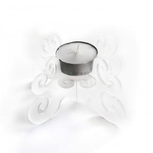 Candeliere in Plexiglass 13x6 Bianco