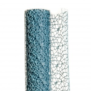 Polycotton net H.48 cm L.5 m Azzurro