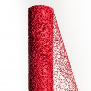Polycotton net H.48 cm L.5 m Rosso