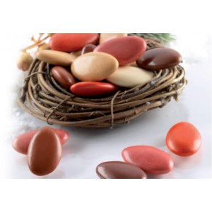 Confetti Sfumati Marrone E Rosso Al Cioccolato