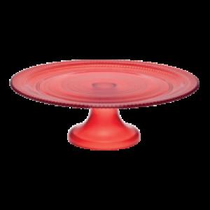 Alzata vetro Bitossi Linea Pois Rosso  h cm. 10