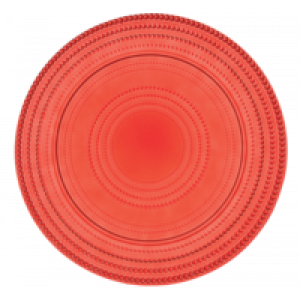 Vassoio tondo Bitossi Linea Pois Rosso