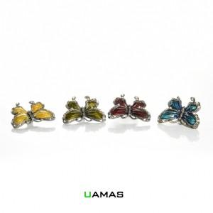 Farfalla con Brillantini Colori Assortiti