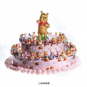 Torta Disney Winnie The Pooh Rosa 54 Pezzi