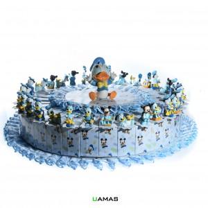 Torta Disney Celeste con Paperino Centrale