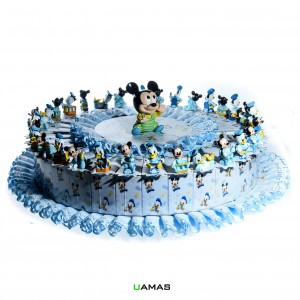 Torta Disney Celeste con Topolino Centrale