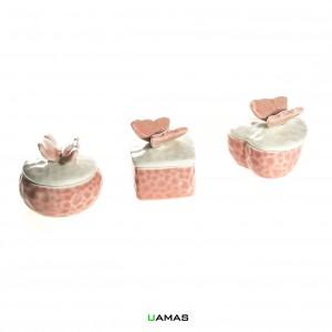 Scatoline con Farfalla in Ceramica Forme Assortite