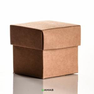 Scatolina 50x50x50mm Avana Fondo e Coperchio