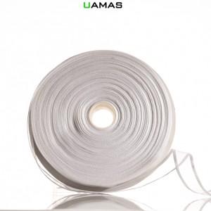 Nastro Organza Bordata H20mm Bianco