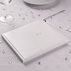 Guest Book Bianco Argento