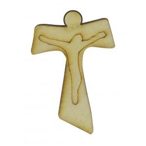 Applicazione Legno Croce Tao 2.5x3.5 cm