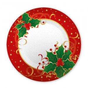 8 Piatti  25 cm Natale Gourmet