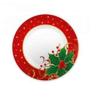 8 Piatti  20 cm Natale Gourmet