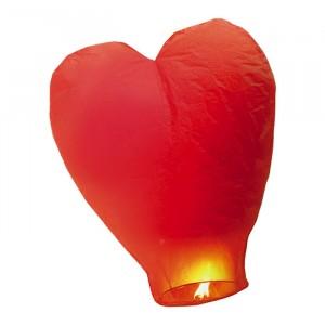 Lanterna Dei Cieli 100 cm Cuore Rosso