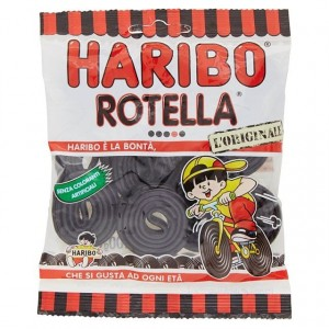 Caramelle Haribo Rotella Liquirizia 100 gr