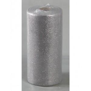 Tulle Glitter Argento 100 Mt. X 12,5 Cm.