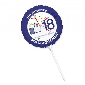 "Palloncino Mylar 9"" 18 Anni Faceparty"