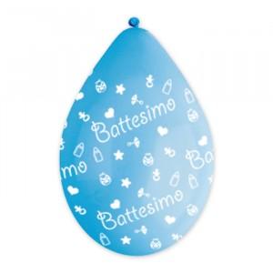 "10 Palloncini in Lattice All Around 12 """" Battesimo Celeste"