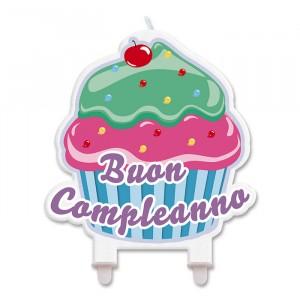 Candelina Sagomata 12 x 12 cm Cupcake