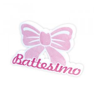 Scritta in Polistirolo 36 x 23 x 5 cm Il Mio Battesimo Rosa