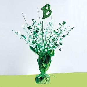 Centrotavola 18 Anni Verde - 37 cm