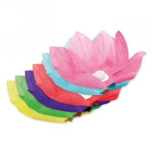 Fiore Galleggiante in carta  28 cm Colori Assortiti