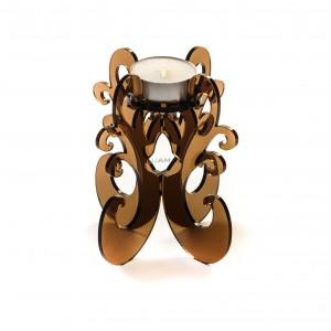 Candeliere in Plexiglass 11x12 Ambra