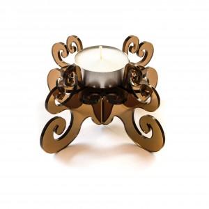 Candeliere in Plexiglass 13x6 Ambra