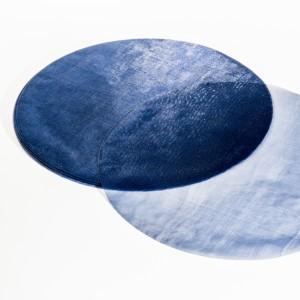 Velo organza tondo blu