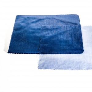 Velo organza quadrato blu