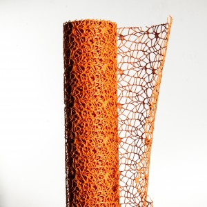 Polycotton net H.48 cm L.5 m Arancio