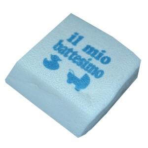Marshmallow Quadratino Battesimo Celeste 20 Pz.
