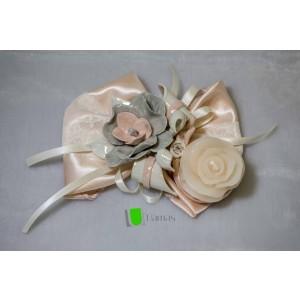 Tralcio Candela Orchidee Grigio Rosa in Capodimonte