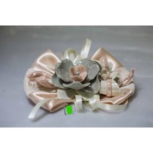 Tralcio Candela Orchidee con rami Grigio Rosa in Capodimonte