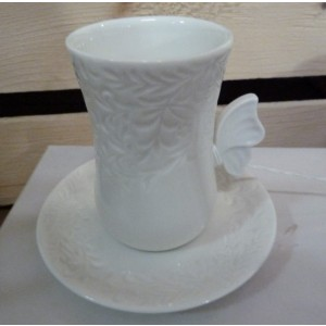 Tazzina con piattino Porcellana 12x9