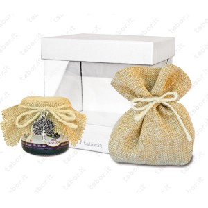 Set Confettura con ciondolo sacchetto e box